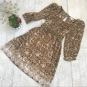 Gianni Bini animal print chiffon dress size Large
